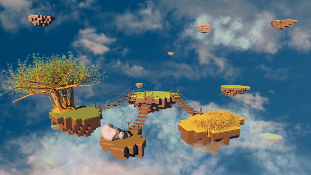 Sky islands concept art, courtesy Simon Chuptys